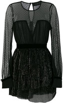 Christian Pellizzari tulled layer mini dress