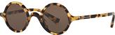 Dolce & Gabbana DG4303 Round Sunglasses, Tortoise/Dark Brown