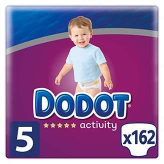 Kurt Geiger Dodot Activity Diapers Size 5, 162 Nappies, 11-16