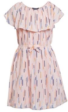 Calvin Klein Big Girls Ruffled Swing Dress