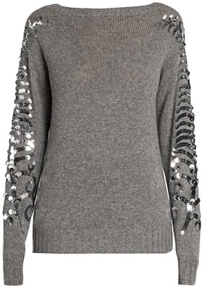 Prada Sequin Detail Cashmere Sweater