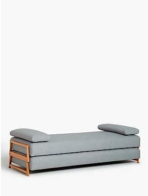 John Lewis & Partners Duplet Daybed, Light Leg, Hatton Light Grey