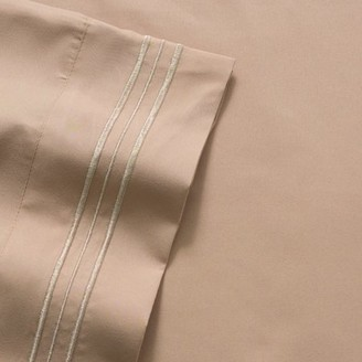 Olivia Branch 1800 Thread Count Microfiber Bed Sheet Set Twin - Taupe