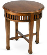 AA Importing Frances Round Side Table, Walnut