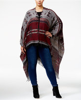 Love Squared Trendy Plus Size Toggle Poncho Cardigan