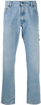 Moschino Overall Effect Straight-Leg Jeans