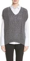 Lafayette 148 New York Women's Drop Hem Sweater