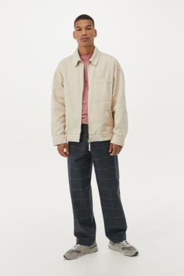 BDG Ecru Zip-Through Work Jacket - White S at Urban Outfitters