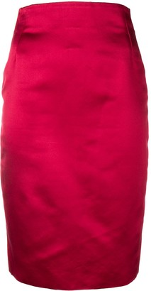 Versace Pre-Owned 1990's Fitted Pencil Skirt