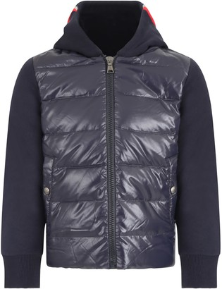 Moncler Blue Sweatshirt For Boy With Logo