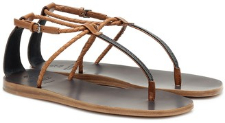 Brunello Cucinelli Leather thong sandals
