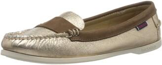 Sebago Women's Caroline Metal NBK W 71113TW Boat Shoes Multicolour (Rosegold-Dkbrown A2c) 6.5 UK