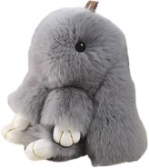 Bunny Keychain Magicub Rabbit Fur Bag Doll Ball Key Ring Pendant Color Random