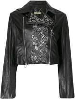 Versace studded biker jacket