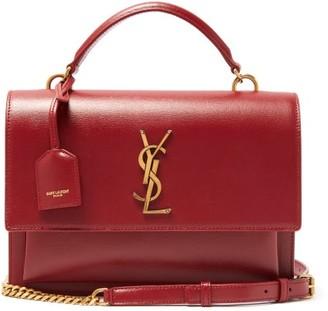 Saint Laurent Sunset Medium Leather Shoulder Bag - Red
