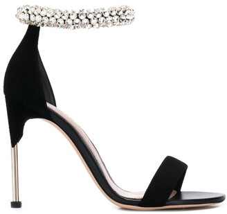 Alexander McQueen Crystal Strap Sandals