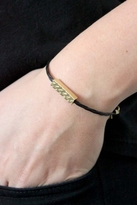 Chibi Jewels Tribal Rectangle Bracelet with Black Color Cord