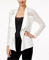 Thalia Sodi Lace-Trim Open-Front Cardigan, Created for Macy's