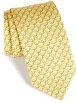 Salvatore Ferragamo Men's Crocodile Silk Tie