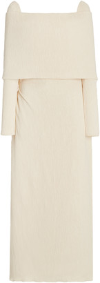 Johanna Ortiz The Real Truth Off-The-Shoulder Crepe Maxi Dress