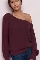 Garage Slouchy Lace-Up Sleeve Sweater