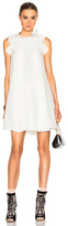 Fendi Crepe de Chine Pleat Dress in White.