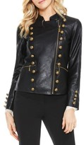 Vince Camuto Women's Faux Leather Military Jacket