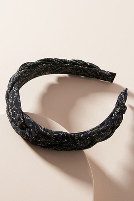 Anthropologie Simone Braided Floral Headband By in Black