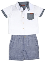 7 For All Mankind Boys' Button Down Shirt & Shorts - Baby