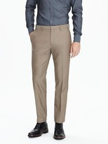 Banana Republic Slim Non-Iron Brown Pant