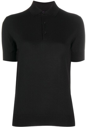 Ralph Lauren Collection Short-Sleeved Knitted Polo Shirt