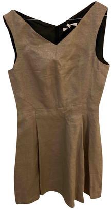 Gerard Darel Gold Linen Dresses