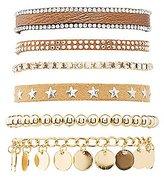 Charlotte Russe Embellished Layering Bracelets - 6 Pack