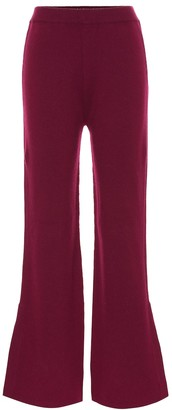 Joseph Mid-rise wool-blend flared pants