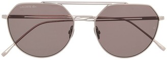 Lacoste Pilot Cut-Out Detail Sunglasses