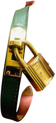 Hermã ̈S HermAs Kelly Green Gold plated Watches