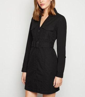 New Look Belted Mini Shirt Dress