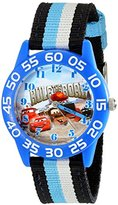Disney Kids' W001953 Blue Cars Character Watch with Tricolored Band