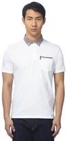 Ben Sherman Big And Tall White Checked Polo Shirt