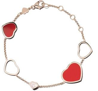 Chopard 18k rose gold Happy Hearts diamond bracelet