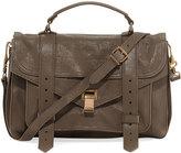 Proenza Schouler PS1 Medium Suede Satchel Bag, Gray