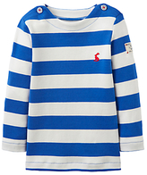 Joules Baby Joule Harbour Stripe Long Sleeve Top, Ocean Blue