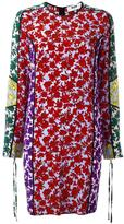 MSGM floral print shift dress - women - Silk - 48