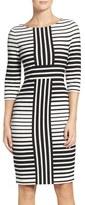 Gabby Skye Women's Stripe Sheath Dress