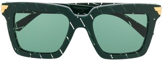 Bottega Veneta Oversize Striped Square Sunglasses
