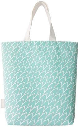 Laura Jackson Design Leaf Tote Bag Mint