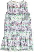 John Galliano Gazette Printed Georgette Plisse Dress