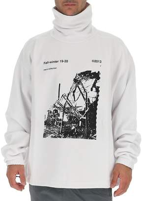 Off-White Off White Ruined Factory Turtleneck Sweater