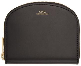 A.P.C. Black Demi-Lune Compact Wallet