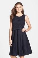 Eliza J Women's Mixed Media Popover Dress